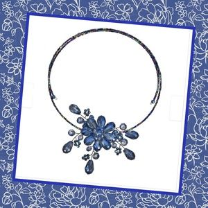 Jewelry - COMING SOON | Midnight Blue Floral Necklace
